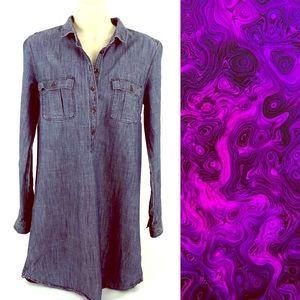 Fossil Denim Tunic style Tip Size Small